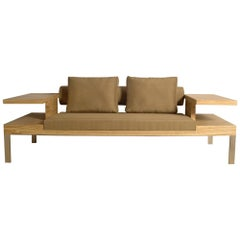 """Sofa """"Horizon"""" in Ash-Olive wood  by Aymeric Lefort"""