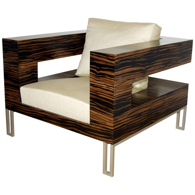 """Aymeric Lefort Armchair """"A Bras Ouvert"""", 21st Century, in Ebony For Sale"""