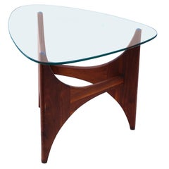Adrian Pearsall Mid-Century Modern Side End Glass Top Table