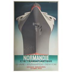 Art Deco Poster Normandie by Cassandre