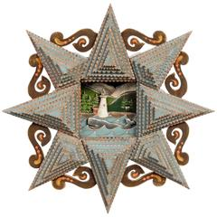 Shadowbox Tramp Art Star Frame by Angie Dow