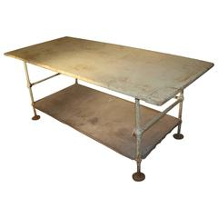 Beautiful Pale Green Industrial Work Table