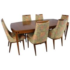 "Kipp Stewart ""Directional"" Dining Table and Chairs for Calvin"