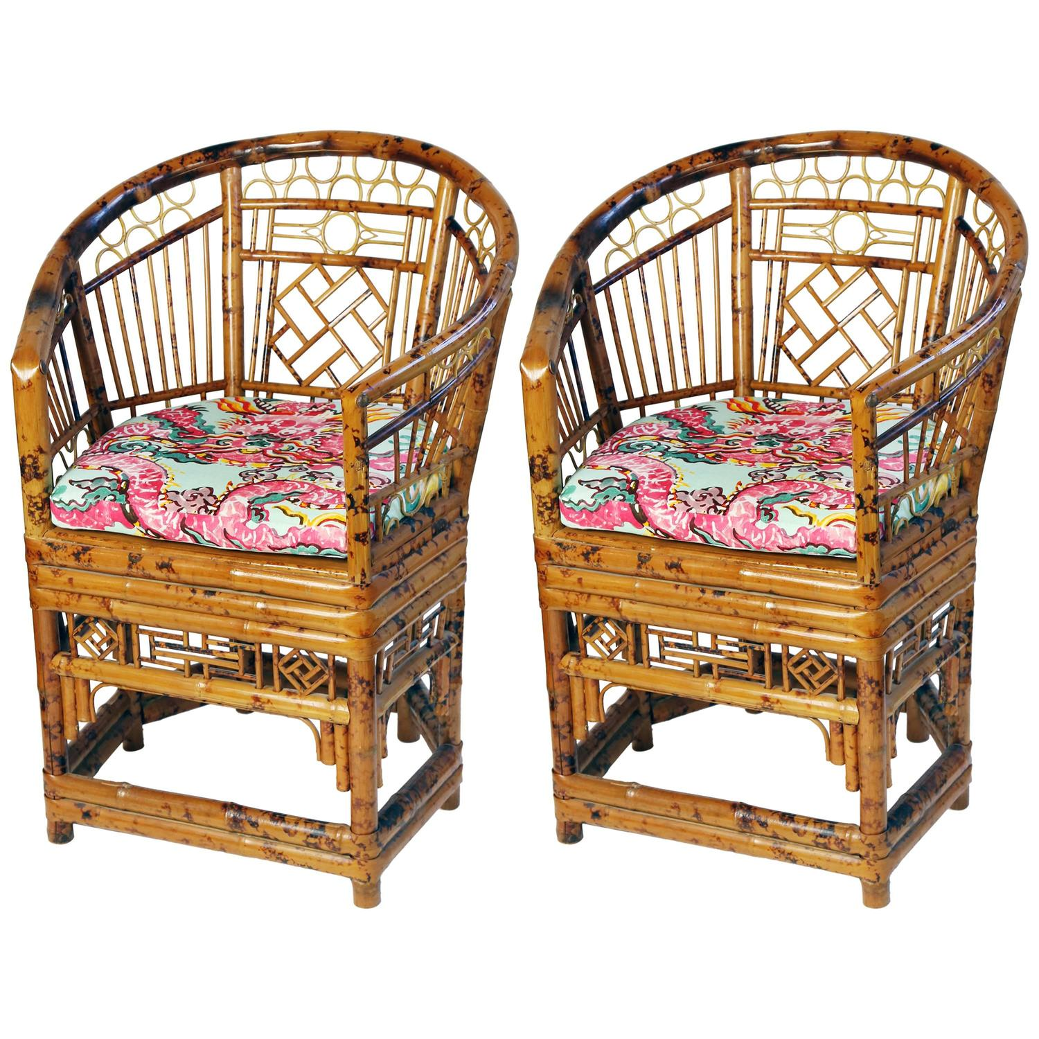 Pair of Brighton Pavilion Chinoiserie Style Bamboo Chairs at 1stdibs