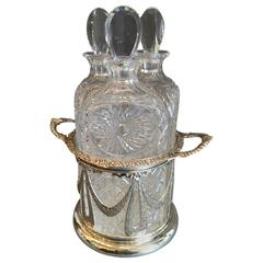 19th Century Three Bottle Scottish Decanter Set