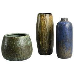 Three Vases by Gunnar Nylund for Rörstrand
