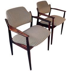 Pair of Arne Vodder Rosewood Armchairs
