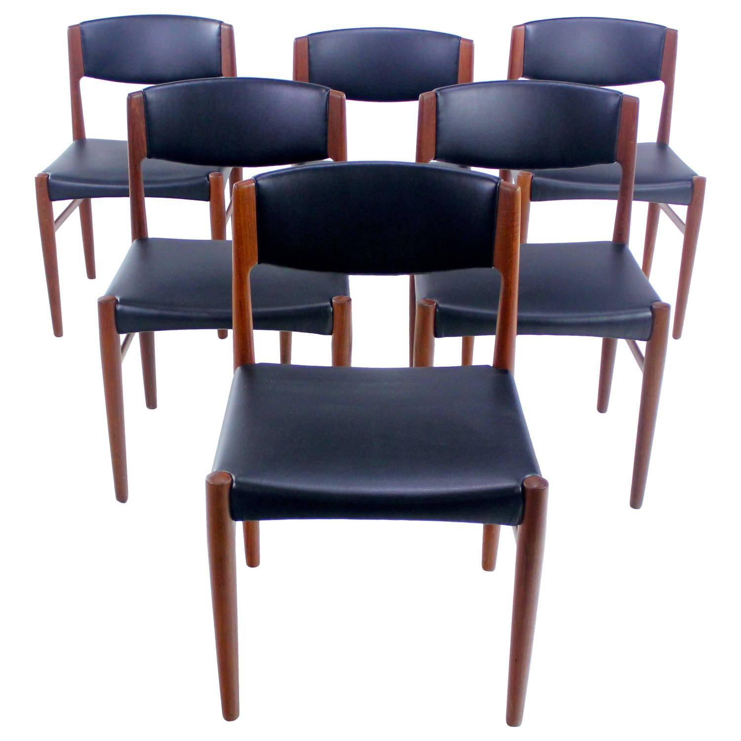 Set Of Six Danish Modern Teak Dining Chairs By Glostrup