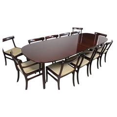 Ole Wanscher Dining Table and Twelve Chairs