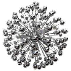 Spectacular Chrome Sputnik Chandelier, 1960s