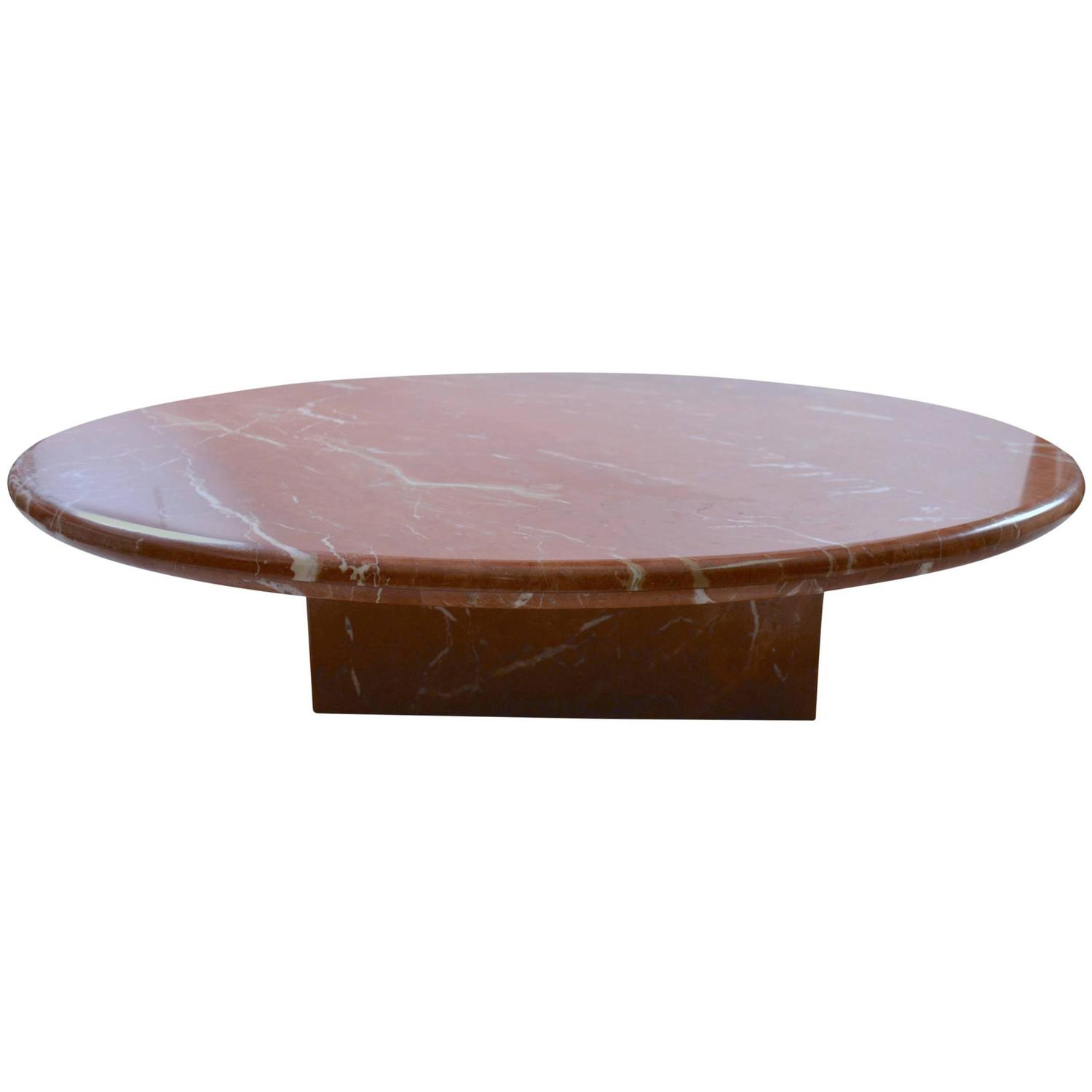 Classic italian modern marble coffee table at 1stdibs Stone coffee table