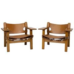 "Pair of Børge Mogensen ""Spanish"" Chairs"