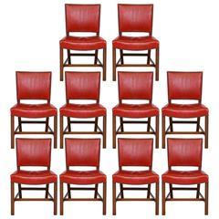 Set of Ten Kaare Klint Dining Chairs