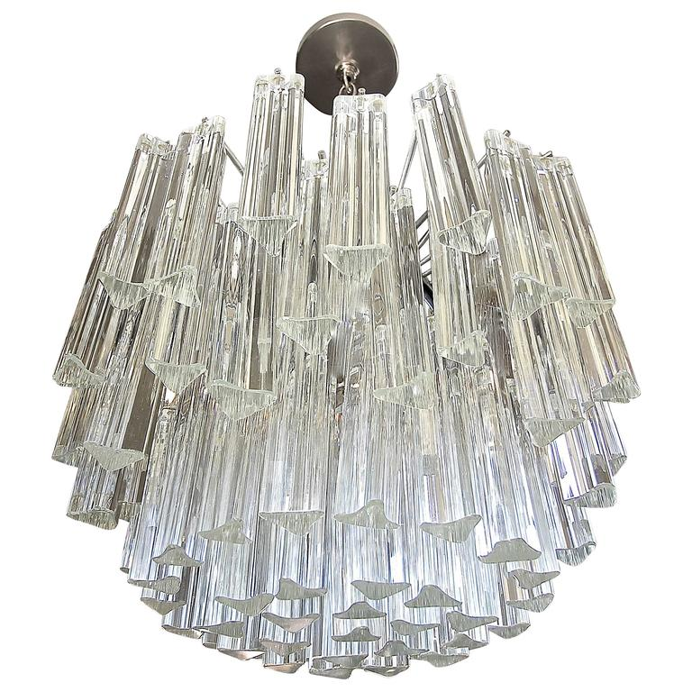 Venini italian triedri crystal prism chandelier at 1stdibs venini italian triedri crystal prism chandelier for sale aloadofball Gallery