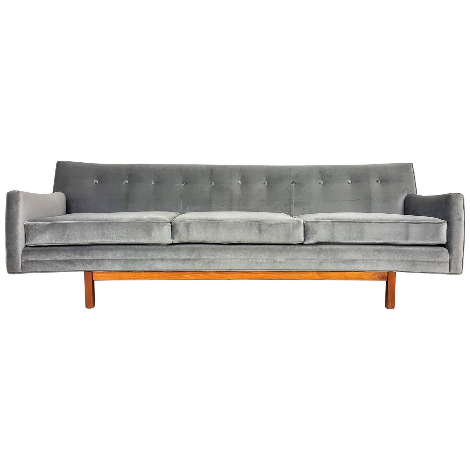 Floating Mid Century Modern Sofa By Jens Risom 1950s At