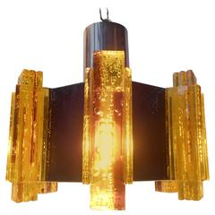 Vintage Claus Bolby Pendant with Brass Details, Danish Modern - a Spacey Twist