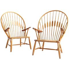 Pair of Hans Wegner Peacock Chairs for Johannes Hansen