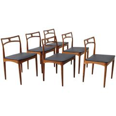 Set of Six Johannes Andersen for Christian Lindeberg #94 Dining Chairs