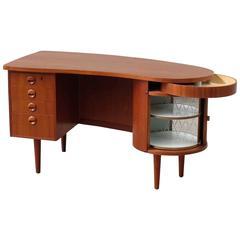 Danish Mid-Century Kidney Desk in Teak