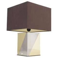 Architectural Table Lamp in the Manner of Paul Evans