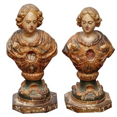 PAIR OF 18TH C ITALIAN  RELIQUARY