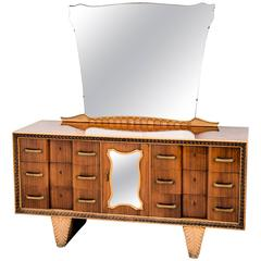 Fine Dresser Table with Mirror by Pier Luigi Colli, 1940s