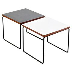 Pair of Pierre Guariche Side Table for Steiner, circa 1950