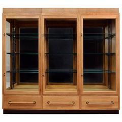 1930s Oak Display Cabinet
