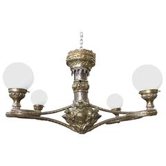 Fabulous Four Arm Globe Light Chandelier Pendant