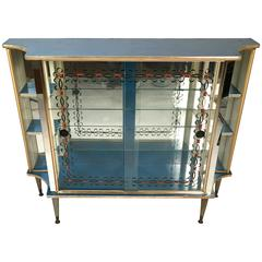 Chic Louis XVI Style 1940s Side Cabinet or Bar