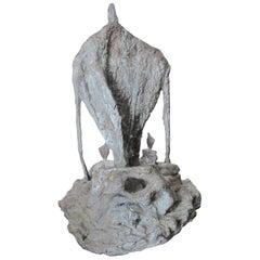 """Bronze Sculpture """"Sanctuaire des Solitudes"""" by Catherine Val"""