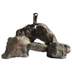 """Bronze Sculpture """"Sortie du chaos, l'Esprit émerge"""" by Catherine Val"""