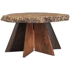 Michael Elkan Studio Crafted Coffee Table of Maple Burl, USA, 1980s