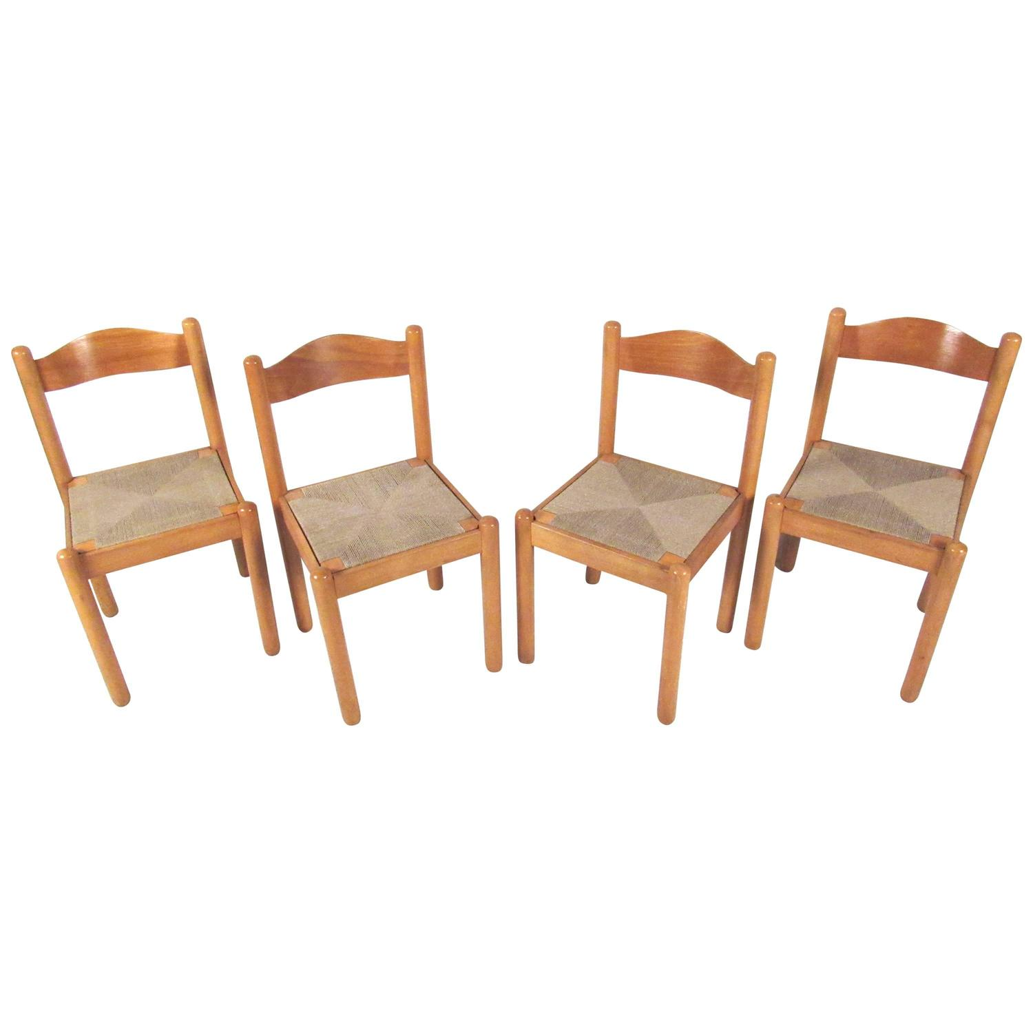 Italian Rush Seat Dining Chairs At 1stdibs