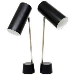"Pair of Kalmar ""Student"" Modernist Table Lamps, Austria, 1960s"