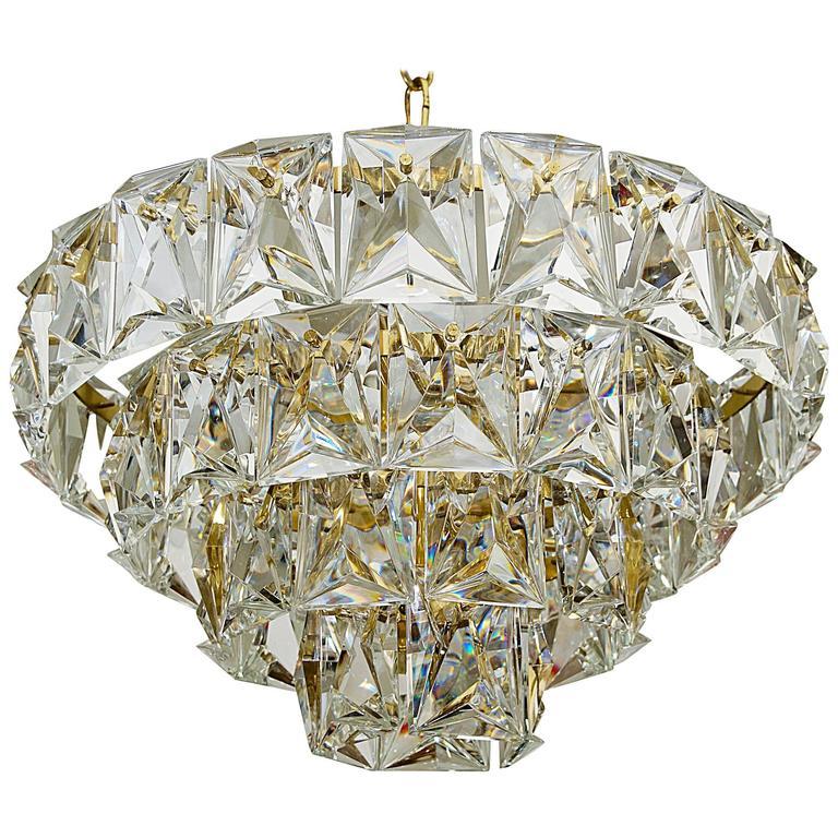 Grand Scale Gold Plate Kinkeldey Style Chandelier At 1stdibs