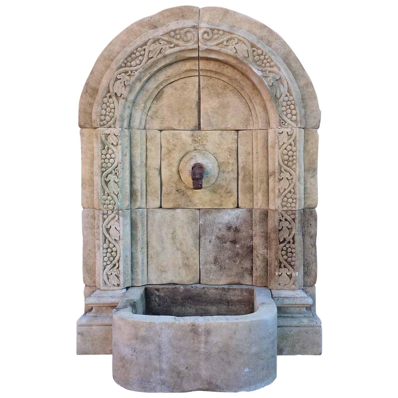 limestone wall fountain at 1stdibs