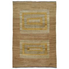 Modern Turkish Flat-Weave Kilim Rug