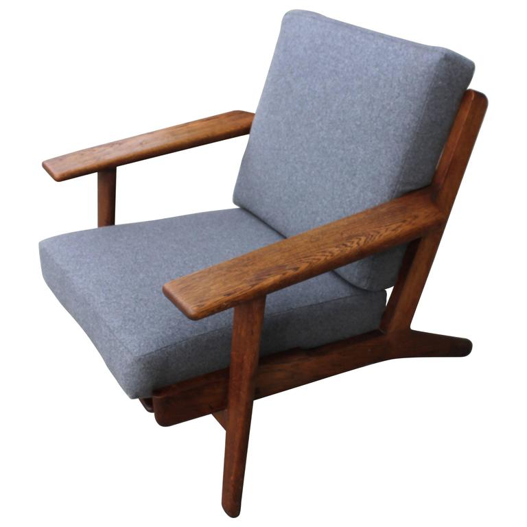 hans wegner ge 290 fauteuil lounge armchair with new. Black Bedroom Furniture Sets. Home Design Ideas