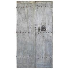 Pair of Antique Reclaimed Entrance Doors from a Bastide outside of Saint-Emilion