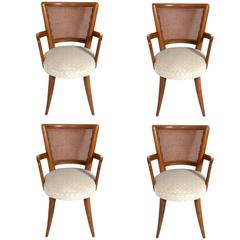 Set of Four Dining Chairs in the Manner of Vladimir Kagan