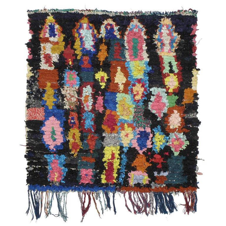 """Moroccan """"Boucherouite"""" Rug For Sale At 1stdibs"""