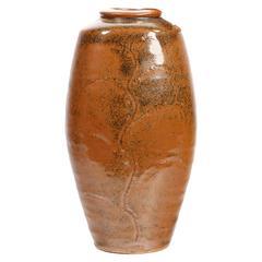 Bernard Leach Japanese Style Mingei Willow Branch Vase