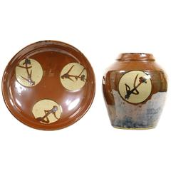 Shoji Hamada, Mingei Japanese Bowl and Vase