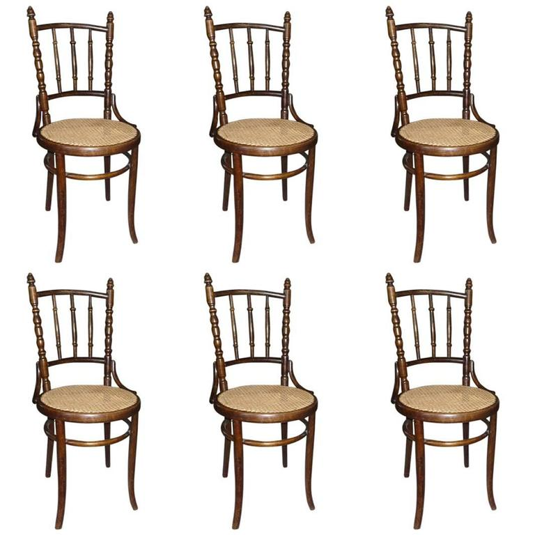 Set Of Six Chairs Fischel, Austria For Sale At 1stdibs