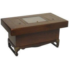 Japanese Kiri Wood Hibachi on Stand