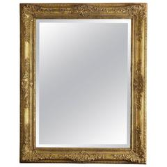 Large Gilded French Louis XIV Style Mirror