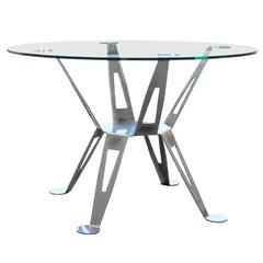 Mexico, Pedro Ramirez Vazquez Chromed Steel Dining Table