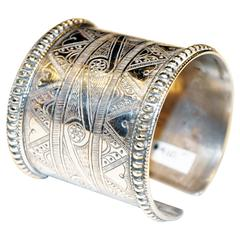 Akha Tribe Incised Silver Cuff