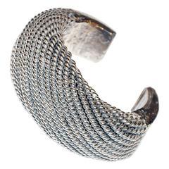 Akha Tribe Coiled Silver Cuff